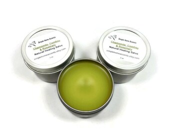 Chamomile, Comfrey and Rosemary Salve, Herbal Salve, Natural Salve, Skin Balm, Gift under 10