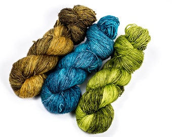 """Three Color Shawl Combo """"Winter Wheat""""--(For """"Oracle"""", """"Snowmelt"""", Etc.) Simply Singles Base"""