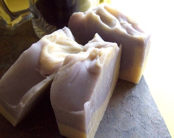 Organic Soap, Lavender Oatmeal Bar Soap with Cocoa Butter, Etsy handmade bar soap