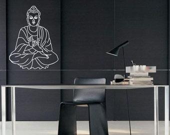 Buddha  Wall Decal  - Vinyl Decal Diwali BA035