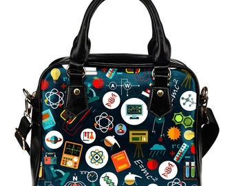Scientist / Science Teacher /  Science Enthusiast / Science Fanatic Shoulder Bags/Handbags - Gift For Science Teacher / Scientist