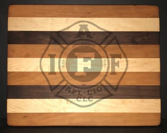 14 X 18 X 1 inch International Association of Firefighters Bread/Cheese Board