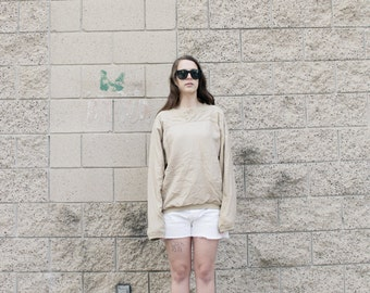 SALE Silk sweatshirt. S/M