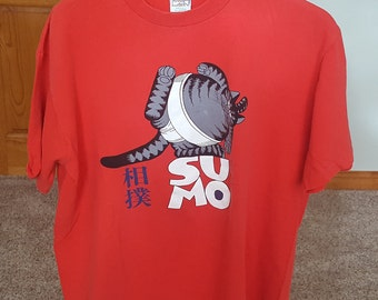 Vintage 80s Sumo Fat Cat B Kliban T Shirt