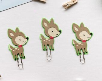 Fawn Bambi Deer Paper Clip
