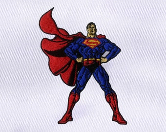 Strong and Sinewy Superman Embroidery Design