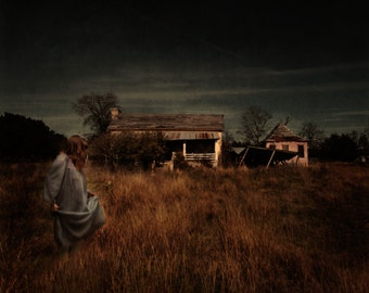 """Abandoned House Conceptual Photography """"To Be Home"""" Girl in front of Fine Art Photography"""