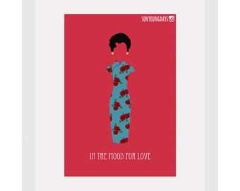 in the mood for love movie poster postcard 4'X6'