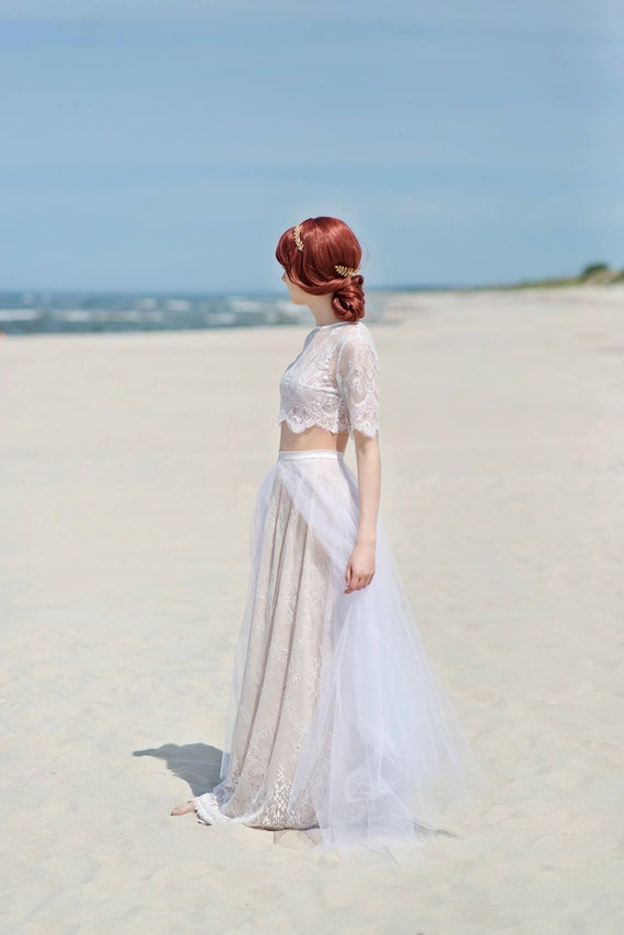 Alexandra - flyaway tulle and lace bridal skirt