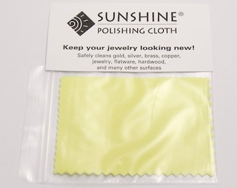 Small Sunshine Polishing Cloth, Jewelry Polishing Cloth