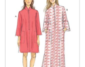 Vogue Pattern V9232 Misses' Zip-Front, Dolman Sleeve Caftans