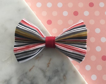 Striped Colourful Pet Bow Tie