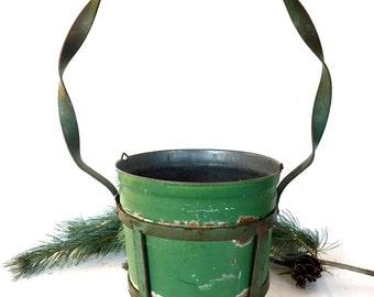 Vintage Galvanized / painted bucket