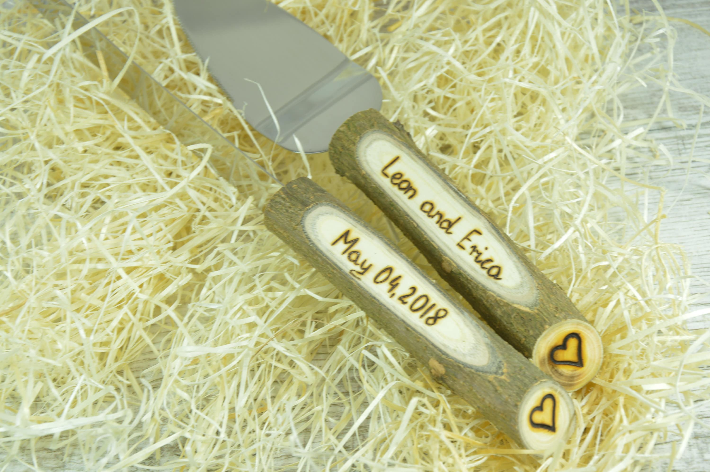 Wedding knife. Wedding cake set. Personalized knife. Cake