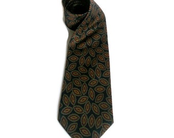 Vintage Italian silk necktie by Riva Calzoni Blue Cravat Tie Men's accessories Gift for him