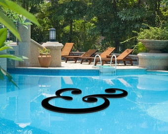Floating Custom Letters Pool Decor -- Logos, monograms, words and symbols!