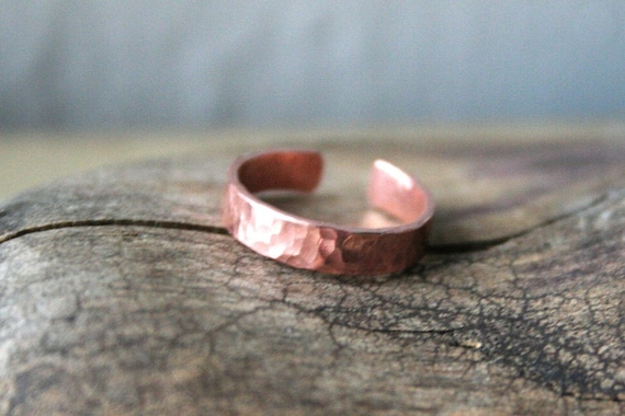 Dimpled 3mm Copper Toe Ring