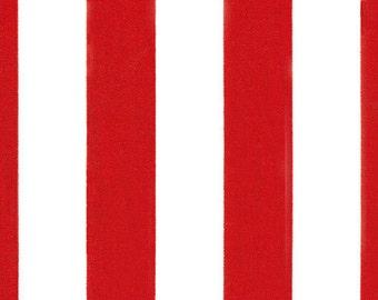 Premier Prints Canopy Stripe in Lipstick Red Twill Home Decor 7 oz Cotton fabric, 1 yard