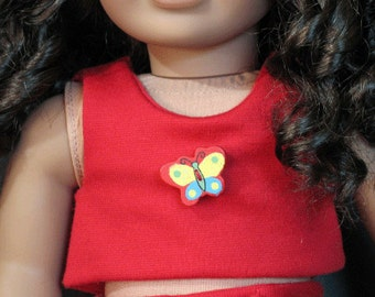 """2 Piece Shorts and Top for 18"""" Doll such as American Girl"""