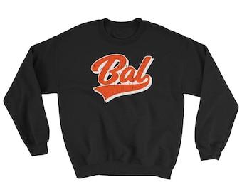 Vintage Baltimore Baseball Sweatshirt, Baltimore Sports Sweater