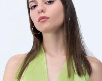 Green woman dress