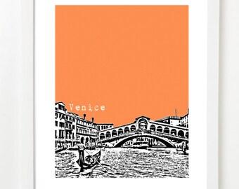 Venice Italy, Art Print - Venice Skyline - Venice Italy Poster - Venice Canals