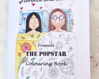 Florence and belle presents the popstars colouring book