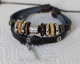 287 Men bracelet Women bracelet Horn bracelet Charm bracelet Beads bracelet Rings bracelet Leather bracelet Fashion bracelet