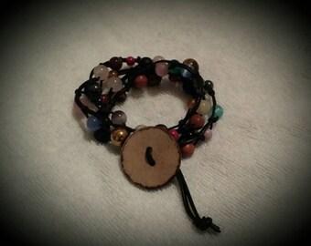 Gemstones Findings Wrap Bracelet