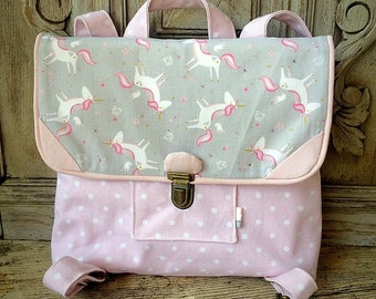 native satchel fabric satchel, Unicorn girl Unicorn, back to school