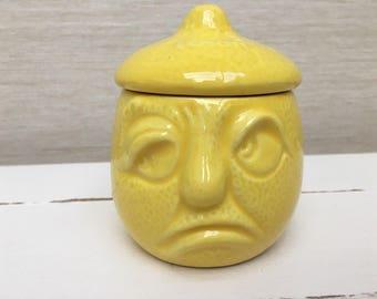 Rare Vintage Sylvac Sour Lemon face Pot 4895
