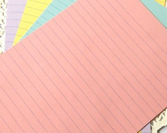 Pastel Notebook Paper. Pastel Lined Paper. Rainbow Stationery. Junk Journal Paper. Planner Paper. Journal Paper. Writing Paper. Pink Journal