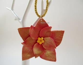Julestjerne ~~ Poinsettia ~~ Christmas Tree Ornament