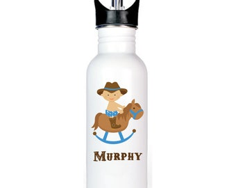 Baby Cowboy 20 oz. Personalized Spout Water Bottle - FREE SHIPPING!