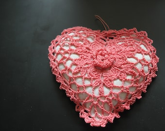 Sachet, Linen hearts, Antique Linen Heart Sachet, Hearts crochet/Beauty & Care/Spa & Relaxation/Aromatherapy