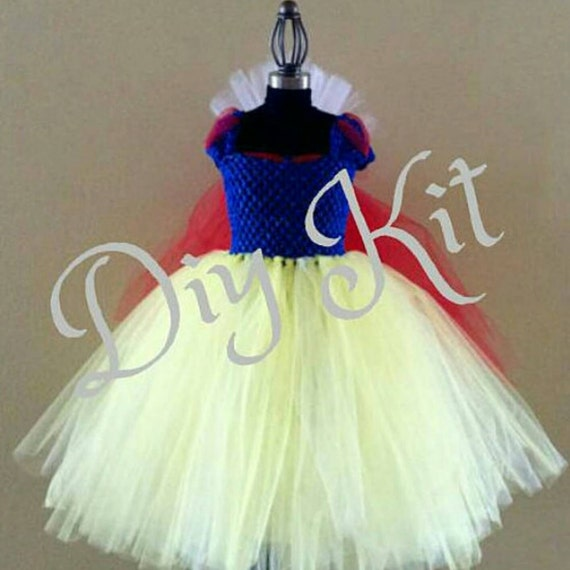 Diy snow white tutu kit child sizes easy do it yourself costume diy snow white tutu kit child sizes easy do it yourself costume tutu dress kit snow white and the seven dwarfs ball gown from thegoldtutushop on solutioingenieria Images