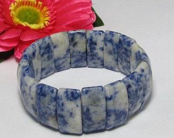 stretchy Bracelet IN Sodalite 25x10mm Beads