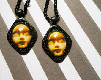 Haunted Doll Earrings - Haunted Doll - Creepy Doll - Halloween Jewelry - Disturbing Art - Haunted Doll Jewelry - Paranormal Jewelry -  Goth