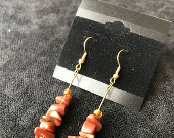Mahogany Stone Stacked Earrings