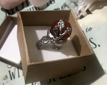 Nature Leaf Silver Ring