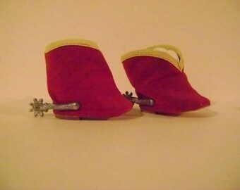 Doll Cowgirl Boots with Spurs