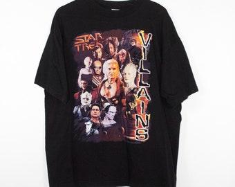 vintage STAR TREK VILLAINS t shirt - khan - klingons - borg queen