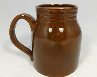 Brown Mason Jar Coffee Cup