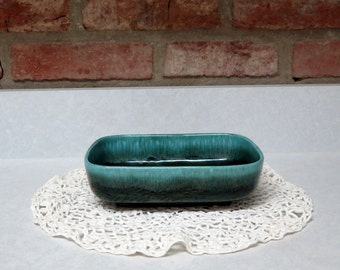 Vintage Hull Pottery Planter Number 41 USA Green Drip Glaze, Window Planter, Cottage Chic, Retro Kitchen