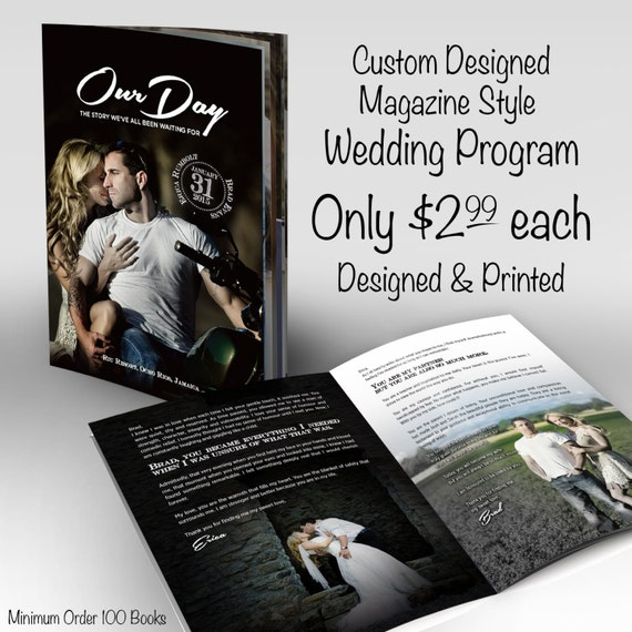 Wedding Program Custom Magazine Style Program Designed And