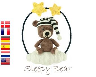 Crochet pattern Sleepy Bear