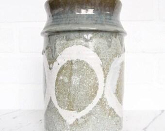 Tall Mid Century Modern Vase / Studio Pottery / Handmade Vase
