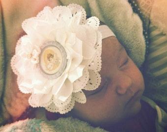 SALE!! Precious Moments Baptism Double Flower Headbands/Clips/Barrettes