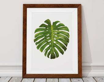 Monstera Leaf Digital Download, Monstera Leaf Digital Print, Monstera leaf, Monstera, Digital Download, Digital Print