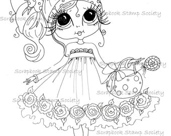 INSTANT DOWNLOAD Digital Digi Stamps Big Eye Big Head Dolls Digi  My - Besties  remix15 By Sherri Baldy